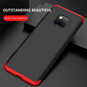 3 in 1 Double Dip 360°Full Cover Protection Hard PC Protective Case For Huawei Mate 20 Pro