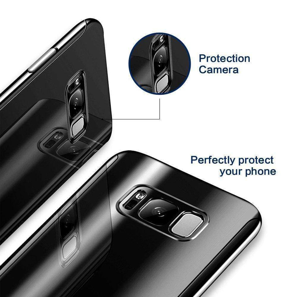 360 Degree Full Body Case Soft HD Screen Protection Protector Film Ultralight Slim Hard Mirror Chrome Electroplate Cover for Samsung Galaxy S8/S8 Plus