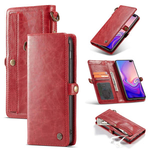 Samsung Galaxy S10e Luxury Retro Wallet Card Slots PU Leather Case