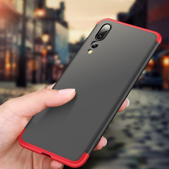 3 in 1 Double Dip 360° Degree Full Protection Hard PC Matte Coque Cover for HUAWEI P20 Pro