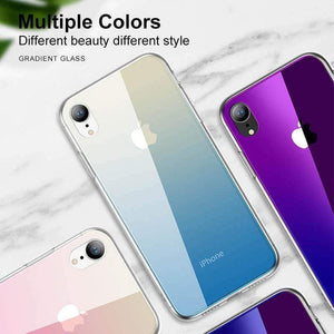 Gradient iPhone Tempered Glass Case For iPhone X/XS/XR/XS Max