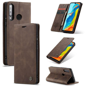 CaseMe Original Leather Wallet Case For Huawei  P30lite