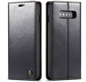 Samsung Galaxy S10 Plus Wallet Stand Magnetic Flip Case