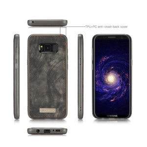 CaseMe Samsung Galaxy S8 Zipper Wallet Magnetic Folio Case Detachable 2 in 1 Back Cover