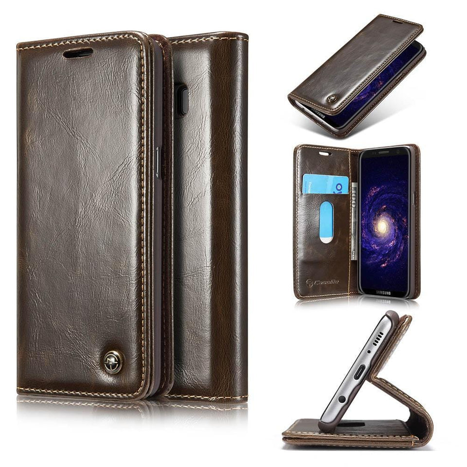 CaseMe Samsung Galaxy S8 Plus Wallet Stand Magnetic Flip Case