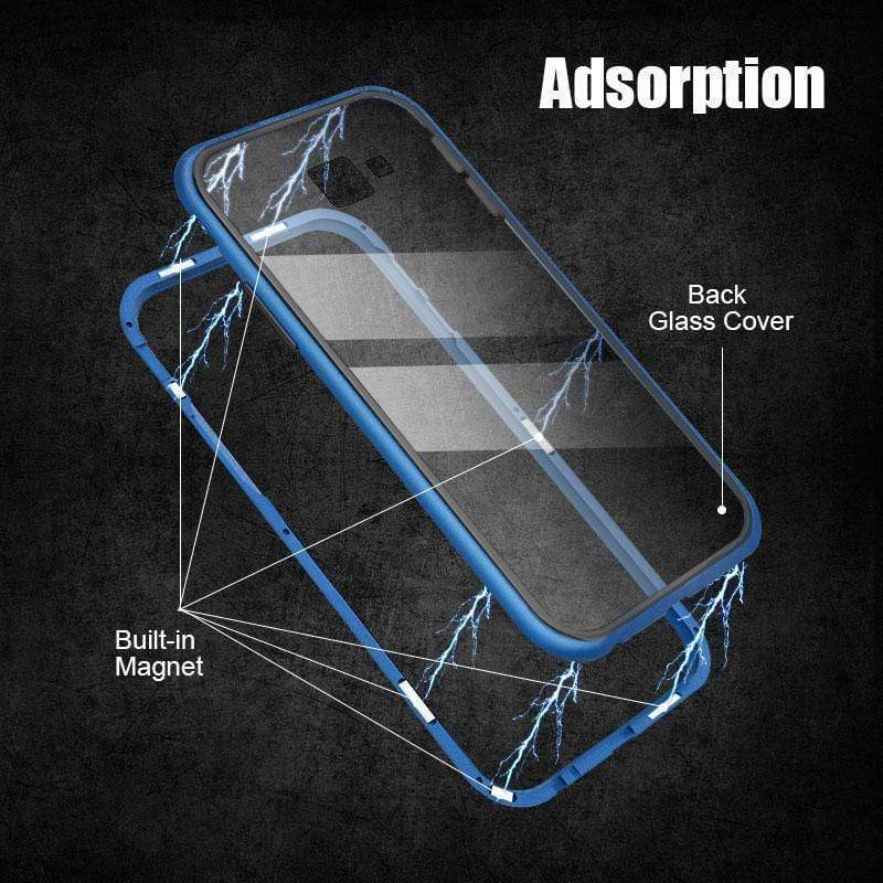 Magnetic Adsorption Flip Phone Case for Samsung J4/J6/J4PLUS/J6 PLUS