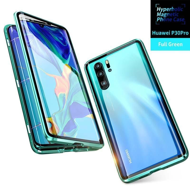 Hyperboloid Upgraded Version Magnetic Case Two Side Glass Cover For Huawei P30 Pro