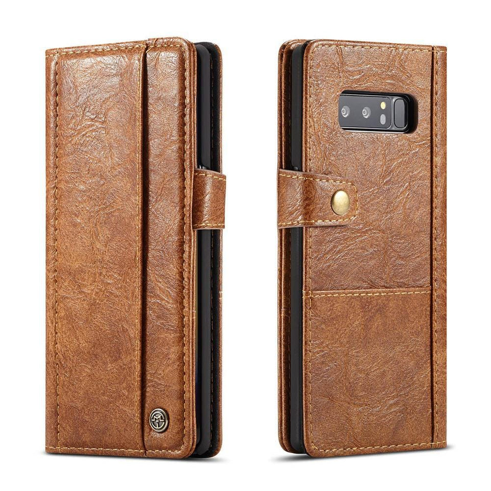 Samsung Galaxy Note 8 Retro Card Slots Wallet Leather Case