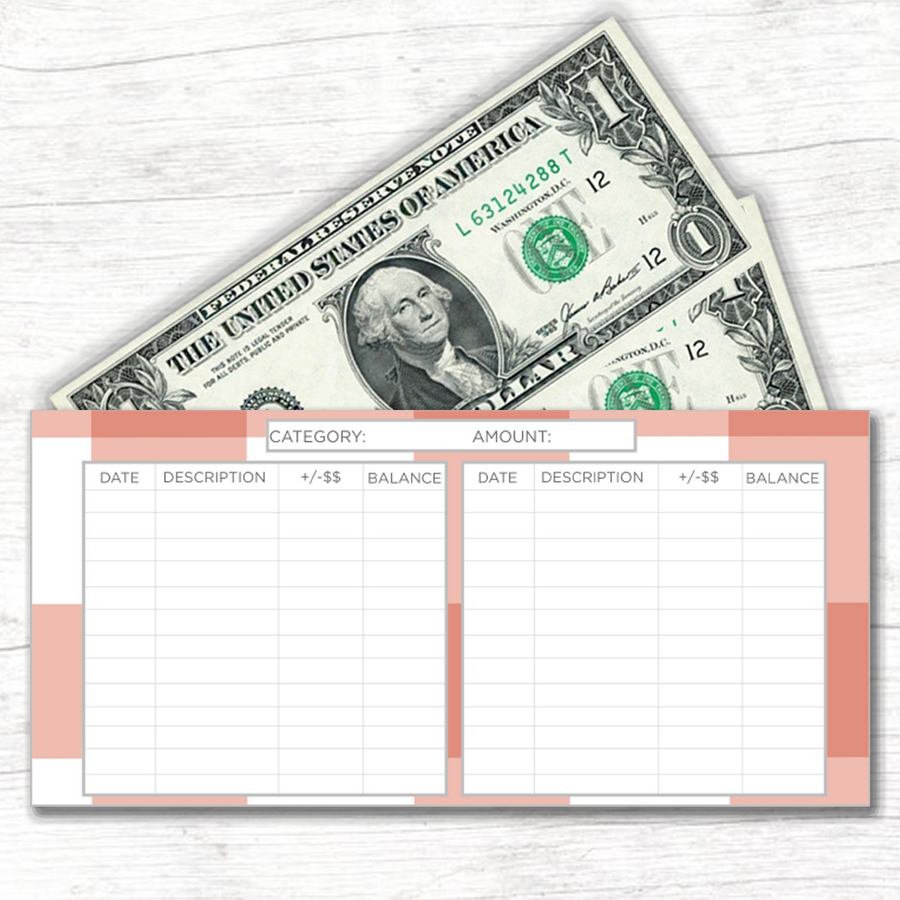 Spring Horizontal Cash Envelopes (Printable)