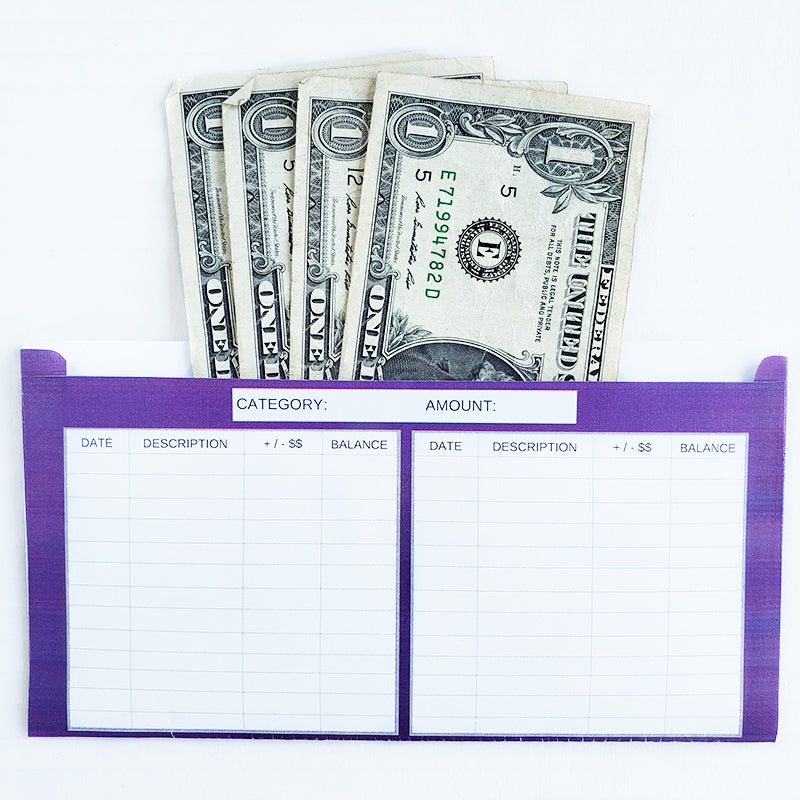 Critter Design Horizontal Cash Envelopes (Printable)