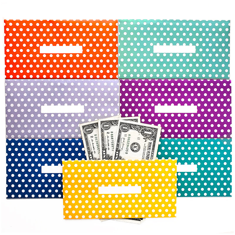 Dot Design Horizontal Cash Envelopes (Printable)