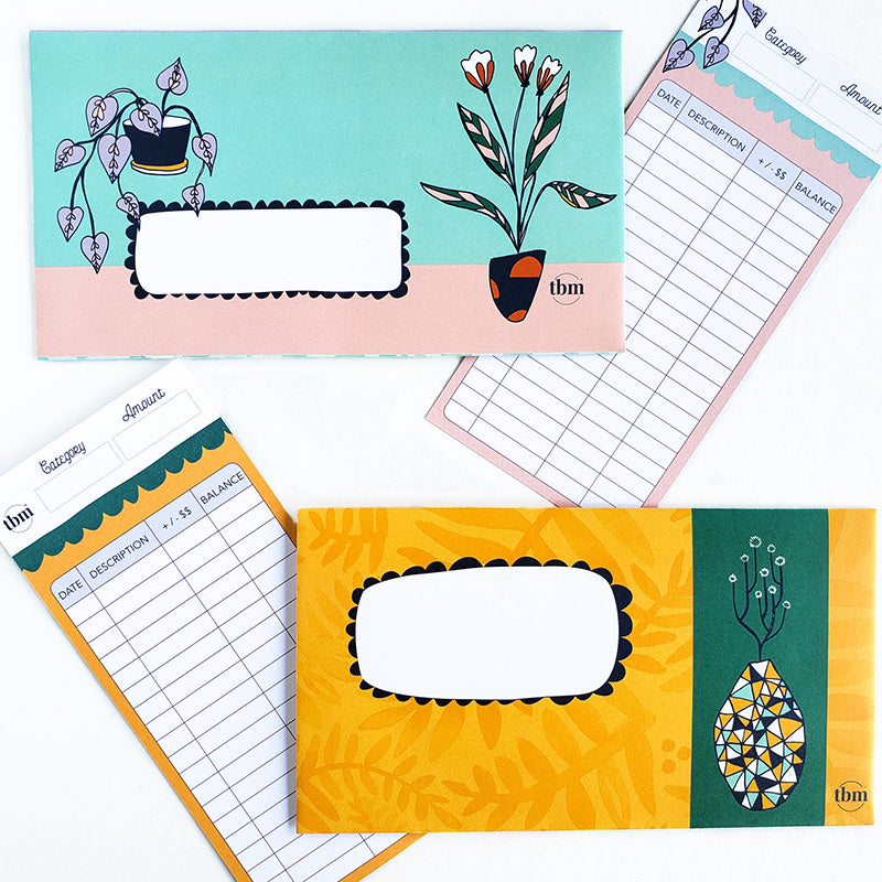 Botanical Cash Envelope Set