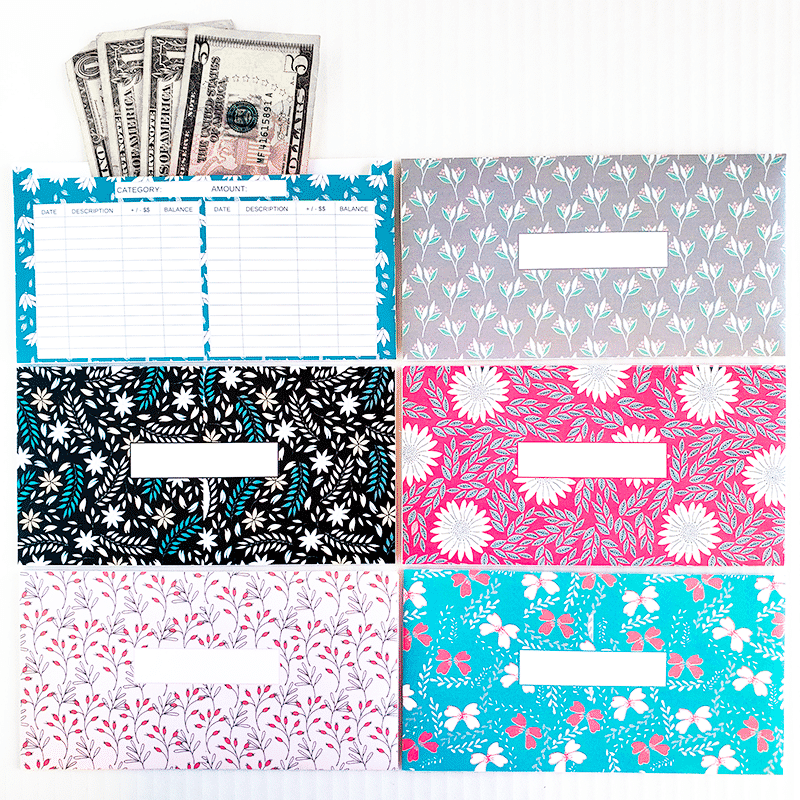 photograph relating to Printable Cash Envelopes referred to as Flower Style Horizontal Revenue Envelopes (Printable)
