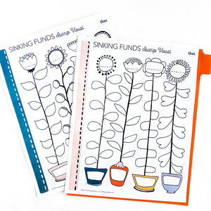 Flower Sinking Fund Trackers (Printable)