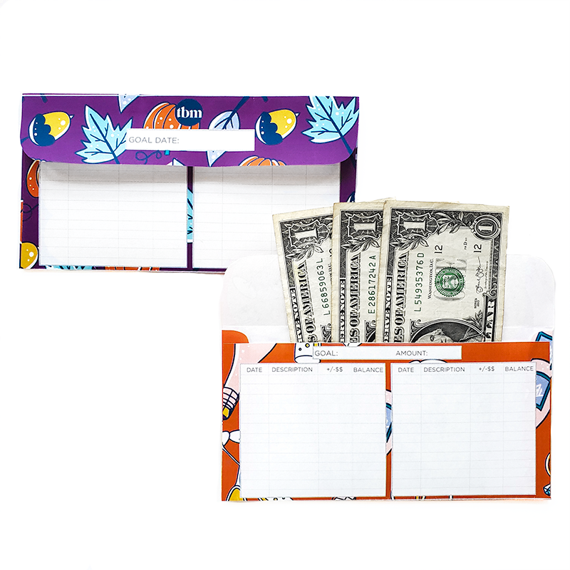 Illustrated Sinking Funds Cash Envelopes With Trackers (Printable)