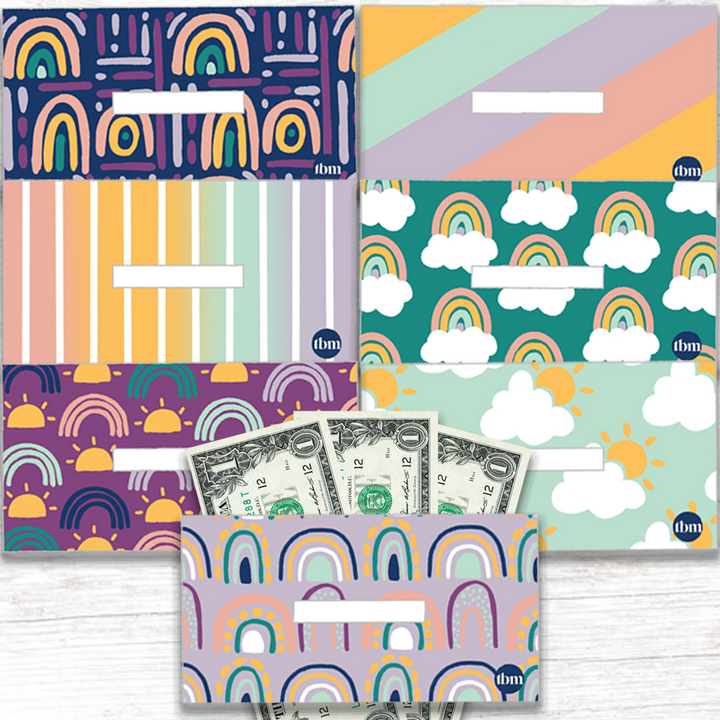 Rainbow Horizontal Cash Envelopes (Printable)