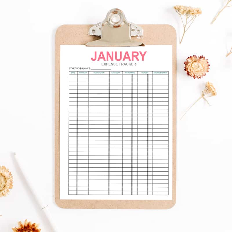 graphic relating to Mom Printables identify Regular Cost Tracker Printables
