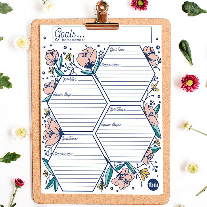 Monthly Goal Printable