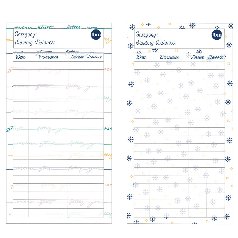 New Year Spending Trackers (Printable)