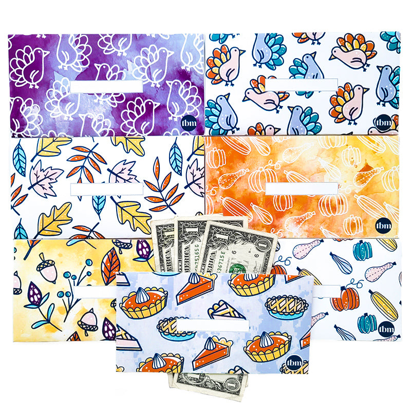November Horizontal Cash Envelopes (Printable)