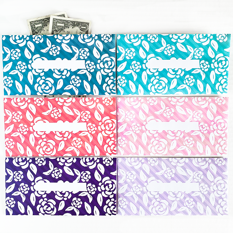 Do you use the cash envelope method for your budget? Organize your cash and stick to your budget by keeping track of your cash spending. These are great for the Dave Ramsey budget system.Add some fun to your budget with these Rose Design horizontal cash envelopes!