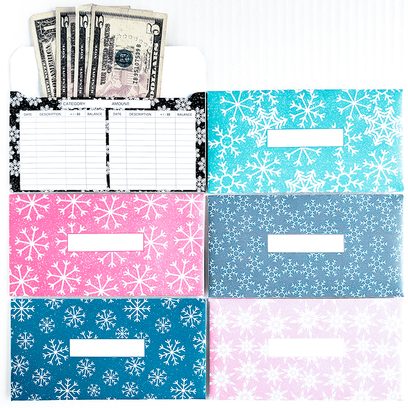 Do you use the cash envelope method for your budget? Organize your cash and stick to your budget by keeping track of your cash spending. These are great for the Dave Ramsey budget system. Get ready for winter by adding these fun snowflake cash envelopes to your budget!