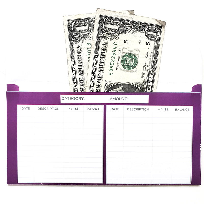 Fun Spring Horizontal Cash Envelopes (Printable)