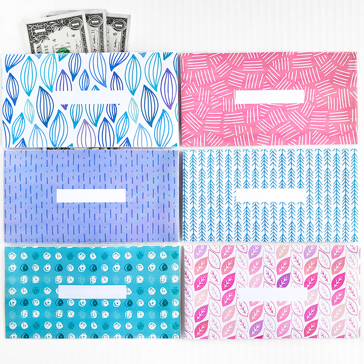 Spring Design Horizontal Cash Envelopes (Printable)