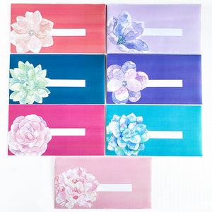 Spring Flower Design Horizontal Cash Envelopes (Printable)