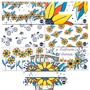 Sunflower Horizontal Cash Envelopes (Printable)