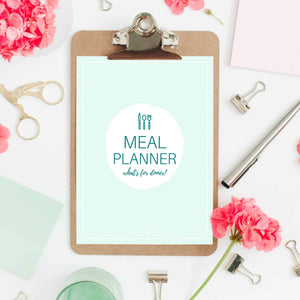 An 11-page meal planning workbook designed to help you succeed with your food budget!