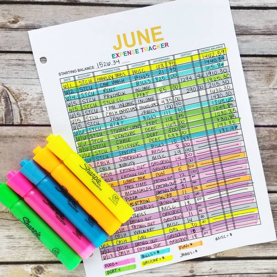 Monthly Expense Tracker Printables