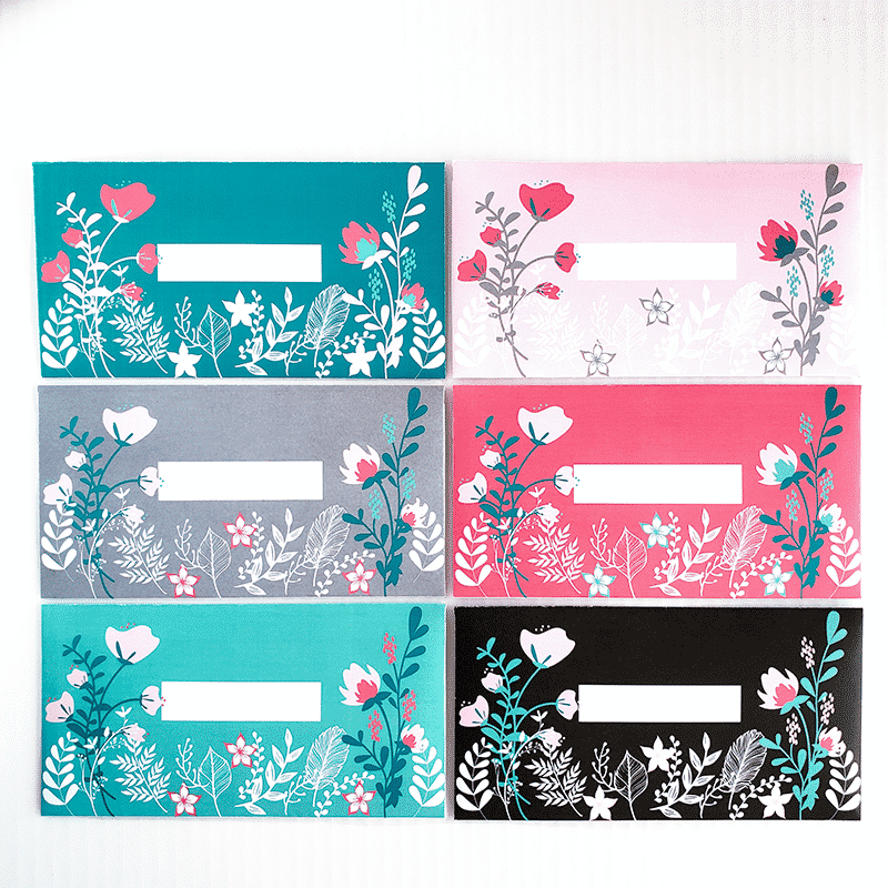 Floral Design Horizontal Cash Envelope Bundle (Printable)