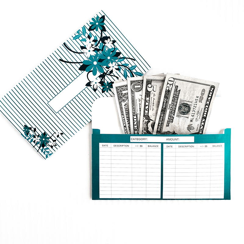 photo relating to Cash Envelope Printable named Floral Structure Horizontal Money Envelope Package deal (Printable)