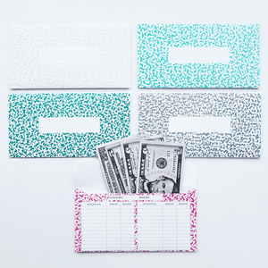 Freckle Design Horizontal Cash Envelopes (Printable)