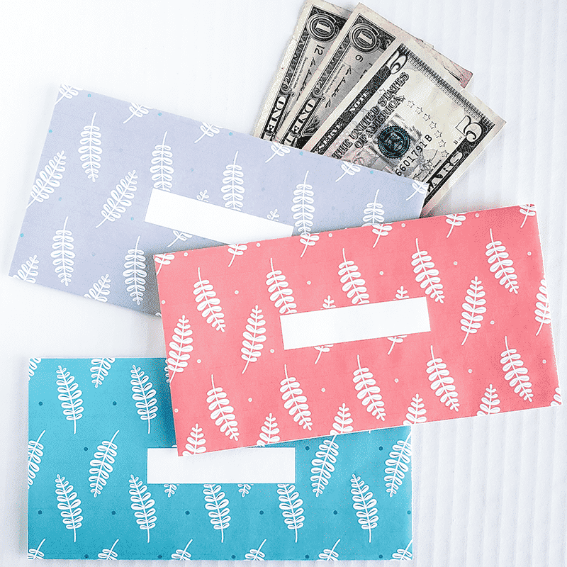 Leaf Design Horizontal Cash Envelopes (Printable)