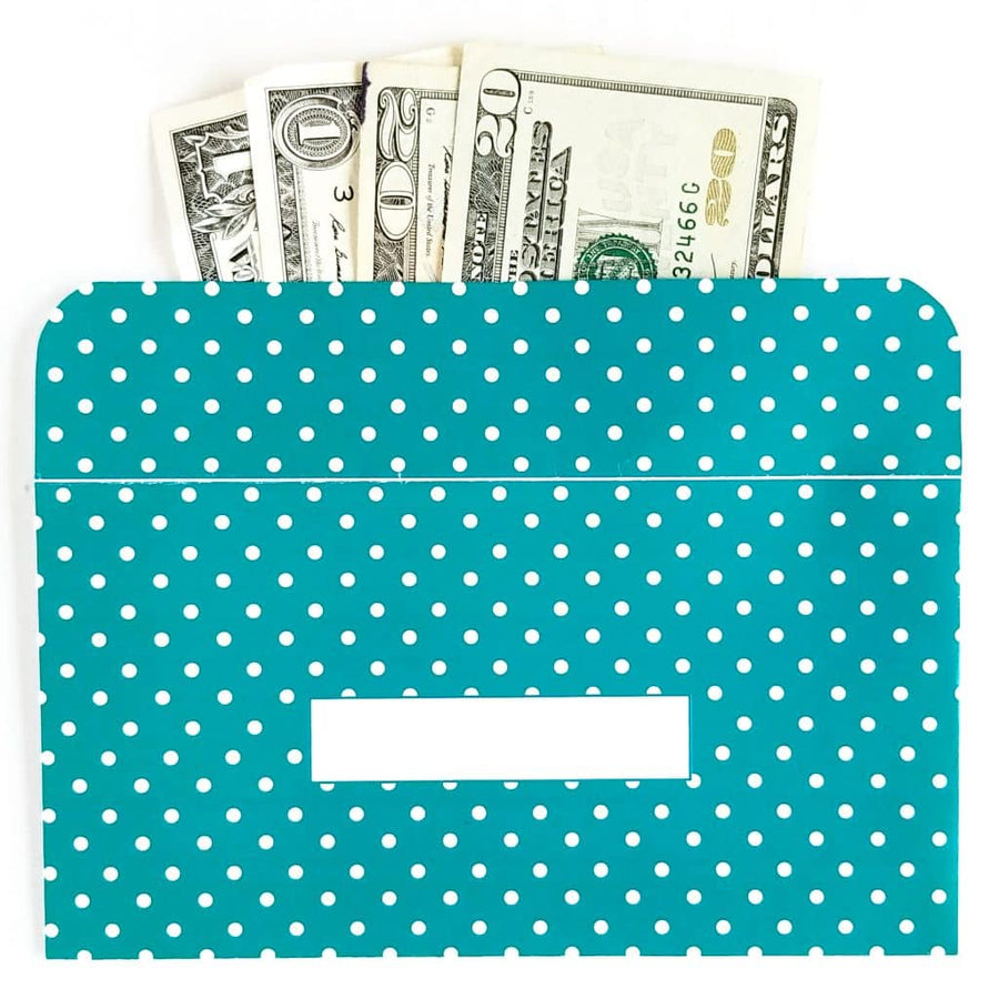 Polka Dot Design Horizontal Cash Envelopes (Printable)