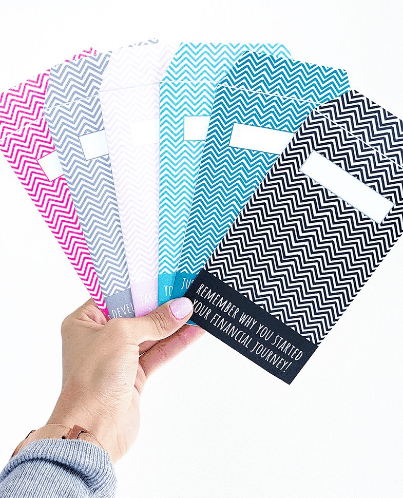 Quote Design Vertical Cash Envelopes (Printable)