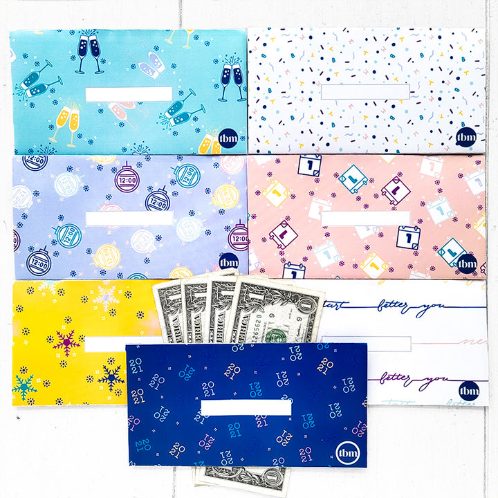 New Year Horizontal Cash Envelopes (Printable)