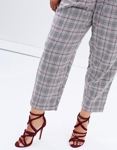Paperbag Pant // Plaid
