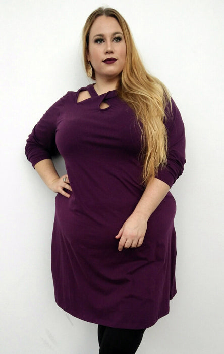 Lulu Dress // Aubergine