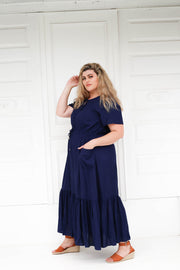 Tropical Maxi Dress // Navy