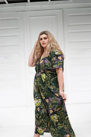 Mahla Twist Front Maxi Dress // Lotus