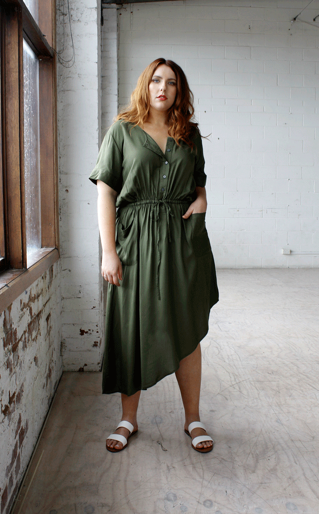 Jemima Dress // Khaki