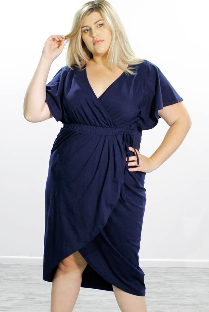 Tulip Wrap Dress // Navy
