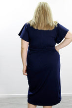 Load image into Gallery viewer, Tulip Wrap Dress // Navy