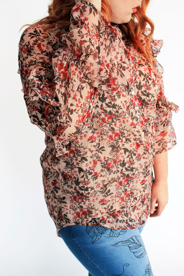 New Haven Top // Nude Floral