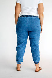 Vintage Wash Denim Joggers