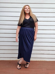 Tulip Wrap Skirt // Navy