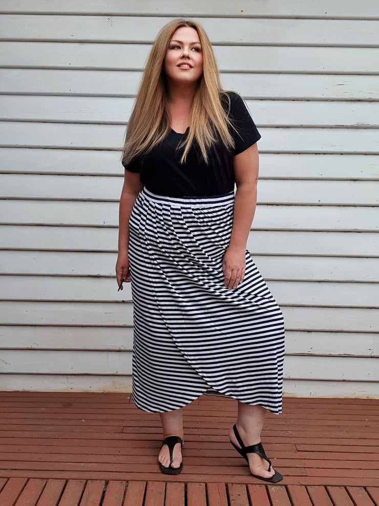 Tulip Wrap Skirt // Stripe